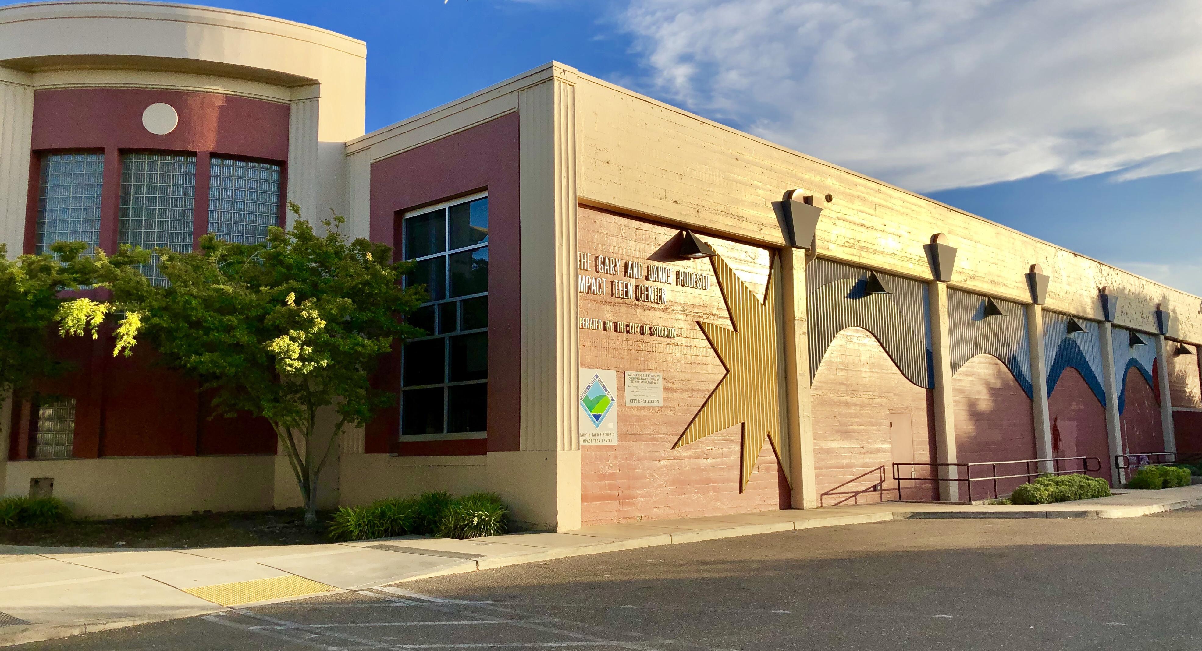 Exterior of the Podesto Teen Impact Center
